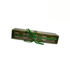 Caixa de 5 doces miniatura com misturas de Maçã