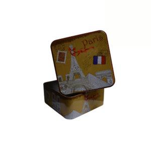 Caixa decorativa metálica
