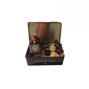 Caixa Memories com Licor, compota e Bombons
